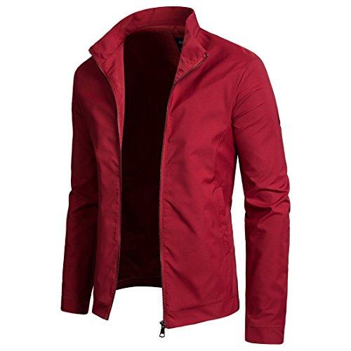 XL Casual Chaqueta Para Hombre Red Deportiva wq7HCg