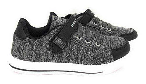 Fashion Fastener - Dream Seek Boys Toddler/Little Kid/Big Kid 1390 Athletic Casual Hook and Loop Fastener Strap Fashion Sneaker (4 M US Big Kid, Dark Grey)
