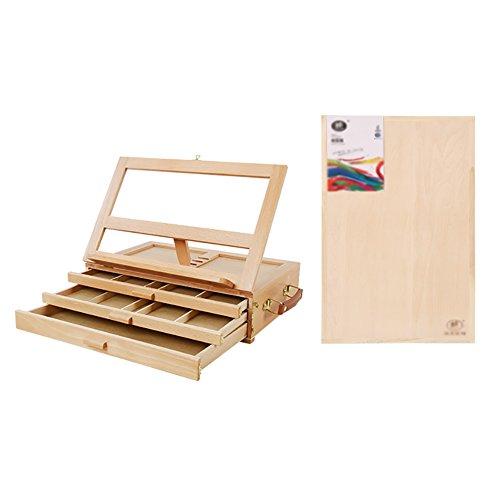 3フロアイーゼル木製デスクトップ引き出しタイプの絵コンテポータブル広告結婚式テーブルスタンド8kスケッチブック