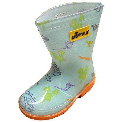 Pour enfants/enfants Chaussures Gruffalo PVC Wellington Bottes avec grip Chaussures Bas, différentes tailles