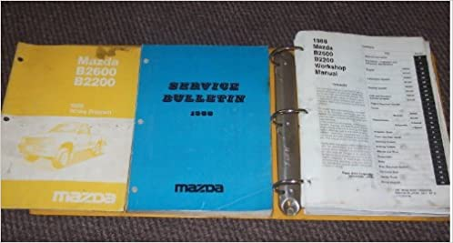 1988 mazda b2200 b2600 truck service shop manual set (service manual, wiring  diagrams manual, and the service bulletins manual ): mazda: amazon com:  books