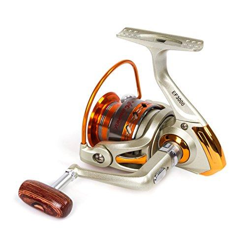 SUNVP Full Metal New Style Aluminum Saltwater Freshwater High Speed Fishing Reels Spinning Left/Right (Spin Left Handed Reel)