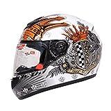 Highwaymen Ls2-Ff352-Crown-Mwh Full Face Helmet,(White,L)