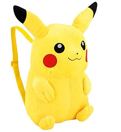 Pikachu plush backpack for kids for school and play