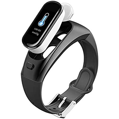 HFXLH Smart Watch Bluetooth Wireless Earphone Blood Pressure Heart Rate Monitor Smart Bracelet wristband For Apple Iphone Estimated Price £94.14 -