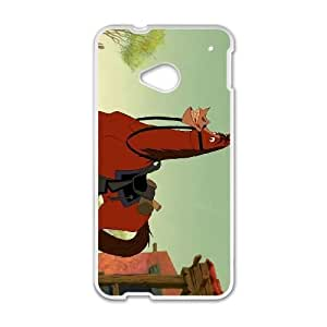 HTC One M7 Cell Phone Case White Disney Home on the Range Character Buck EOM