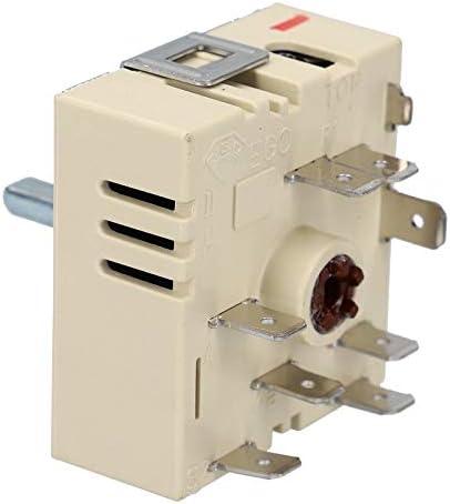 Regulador de energía de dos circuitos Giro a la derecha para EGO 50.55021.100 5055021100 Placa de cocción
