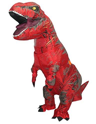 [Lakerui Funny Inflatable Blow Up T-Rex Dinosaur Fancy Costumes for Adult Red] (Red Inflatable Funny Costumes)