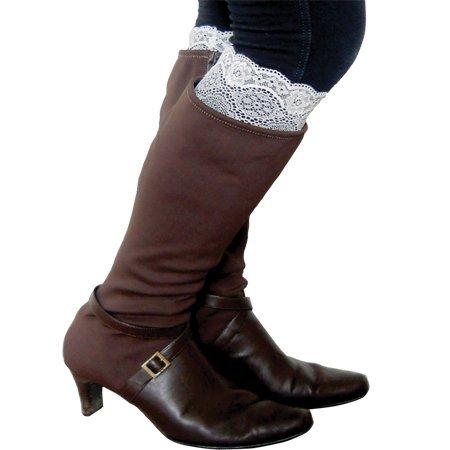 Boot Cuffs Socks in White