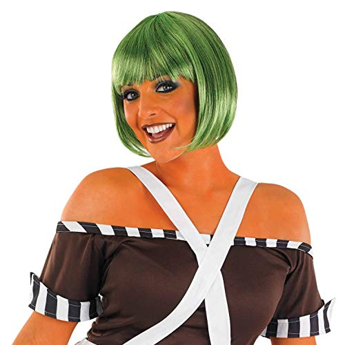 Womens Dark Green Bob Wig Adults Oompa