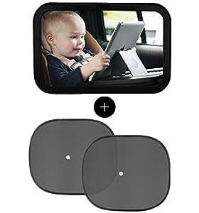 Espejo retrovisor bebe espejo coche bebe y parasol coche for Espejo retrovisor bebe