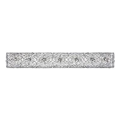 Kendal Lighting VF6200-5L-CH Solaro 5-Light Vanity Fixture, Chrome Finish and Optic Crystal Jewel Accents