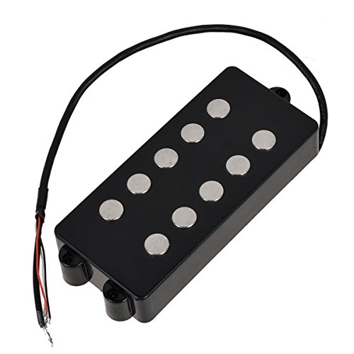 (Kmise MI0567 Black 5 String Bass Guitar Pickup Humbucker For Music Man Bass Coil)