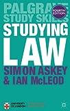 Studying Law (Macmillan Study Skills)