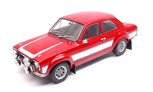 FORD ESCORT RS 2000 MKI rosso WITH bianca STRIPES 1 18 - Triple 9 - Auto Stradali - Die Cast - Modellino