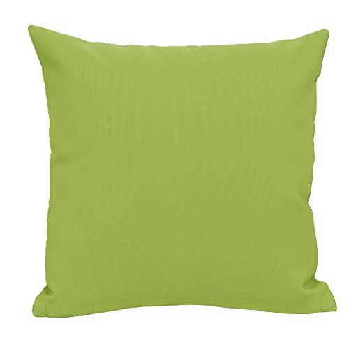 Apple Green Pillow - Do4U Home Decorative Hand Made Waterproof Throw Pillow Case Cushion Cover For Travel Use, Outdoor,Rattan Sofa 18x18-inch (Apple Green)