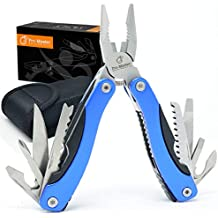 BEST Multitool Knife. 15 in 1 Portable Pocket Multifunctional Multi Tool. Folding Saw, Wire Cutter, Pliers, Sheath. Multipurpose, Survival, Camping, Fishing, Hunting, Hiking, Car Set. Life Warranty