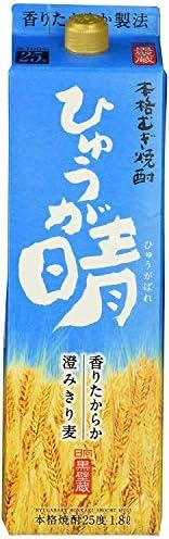 焼酎 麦焼酎 ひゅうが晴パック 25度 1.8L 6本 1ケース 宝酒造 宮崎県