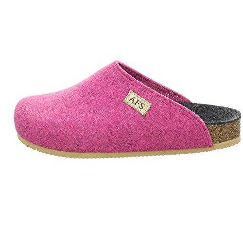AFS-Schuhe 26910 Filz Hausschuhe Damen, Bequeme, Warme Winter Pantoffeln Größe 41 Pink (Pink)