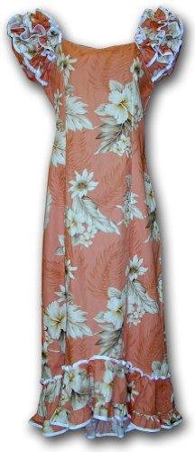 Muumuu Hawaiian Dresses The Luau Peach L 334-3162