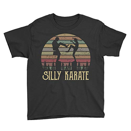 Zinko Kids The Ministry of Silly Karate Youth T-Shirt (M, Black)