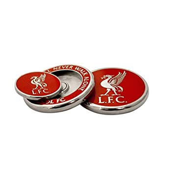 ball markers. liverpool duo golf ball marker - red markers