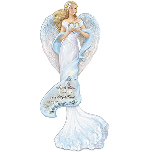 The Hamilton Collection Thomas Kinkade Memories of Love Guardian Angel Figurine with Swarovski Crystal