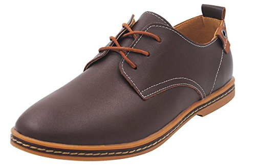 Reinhar New Men's Leather Shoes Lace up Brown9.5 D(M) - Kuwait Models Male