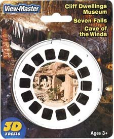 Cliff Dwellings Museum; 7 Falls; Cave of the Winds - ViewMaster 3 Reel Set by 3Dstereo ViewMaster