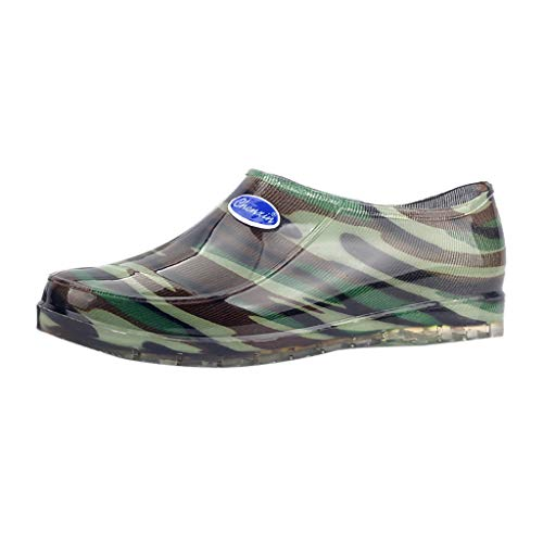 Respctful ✿Women's Waterproof Rain and Garden Shoe with Comfort Insole Rubber Boots Easy-On Handles -