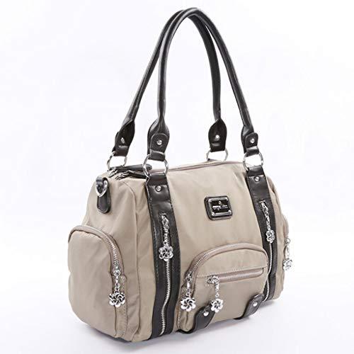Femmes Sac à Main élégant Sac à bandoulière Minimaliste Multifonctions Messenger Bag 3 Couleurs (32 * 27 * 13cm) (Couleur : Armée Verte)