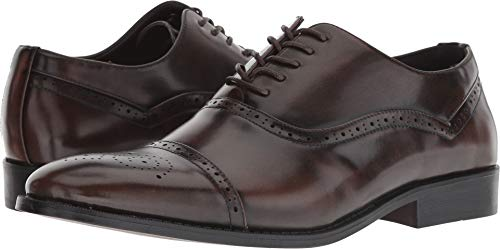 Unlisted by Kenneth Cole Men's Half TIME Break Oxford, Dark Cognac, 12 M US