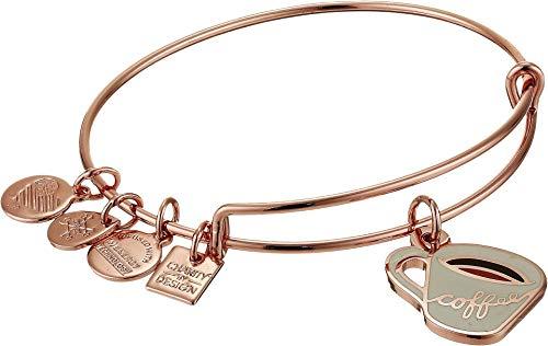 Alex and Ani Women's Charity by Design Coffee Mug Bangle Bracelet, Shiny Rose Gold