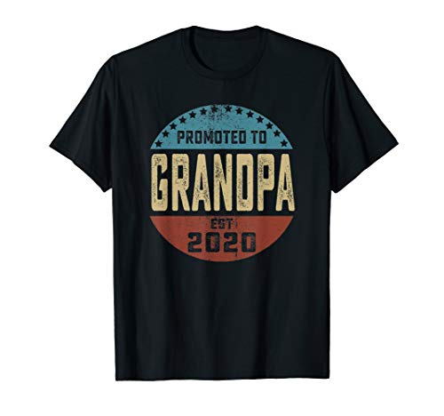 Father's Day Gift For Men Promoted To Grandpa Est 2020 T-Shirt