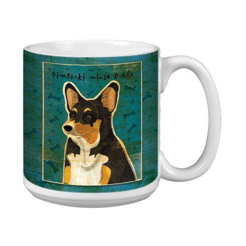 (Tree-Free Greetings XM28043 John W. Golden Artful Jumbo Mug, 20-Ounce, Tri-Color Pembroke Welsh Corgi)
