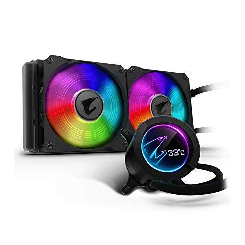 Liquid Cooling Gigabyte Aorus Liquid Cooler 280, All-in-one Liquid Cooler with Circular LCD Display, RGB Fusion 2.0, Dual 140mm ARGB FansAORUS 280 GIGABYTE