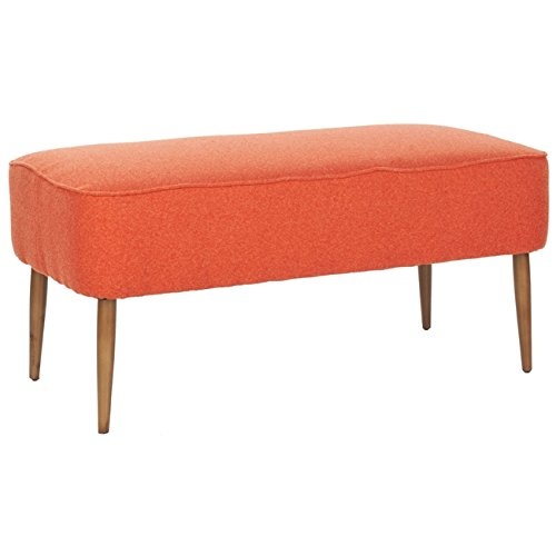 Safavieh Mercer Collection Clara Retro Orange Wool Bench