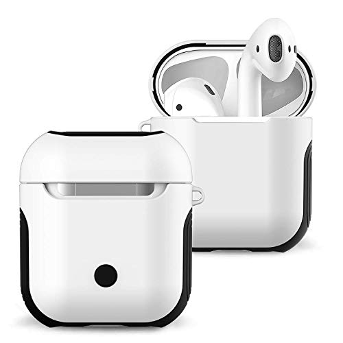 Airpods Case, Airpods Accessories Set Protective Silicone Cover for Apple Airpods Charging Case Airpods Skin, 1 Pack(White) ()