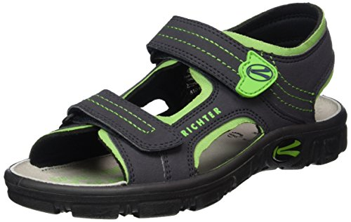 Richter Kinderschuhe Adventure, Jungen Sandalen, Blau (atlantic/apple 7202), 32 EU