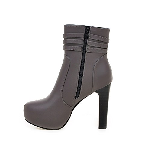 Fashion HeelAnkle Boots - Botas mujer gris