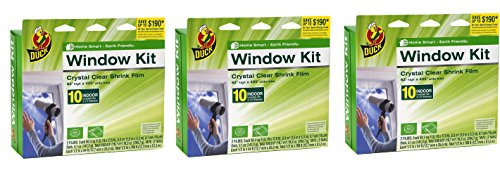(Duck Brand 281506 Indoor 10-Window Shrink Film Insulator Kit, 62-Inch by 420-Inch __3PACK__)