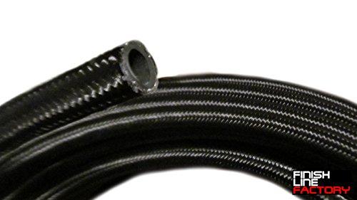 Nylon Braided Hose 3 Feet Fuel Gas E85 Oil Water, 04 AN ()