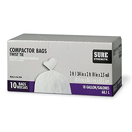 Amazon.com: Compactor Bag 18gl 10pk: Kitchen & Dining