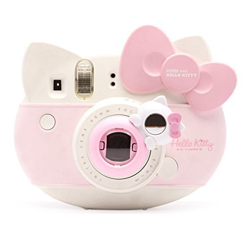 Lovely Kitty Selfie And Close Up Lens Shot Mirror For Fujifilm Instax Mini 8 Mini 9 Polaroid PIC-300 Hellokitty Instant Camera (Pink Cat)