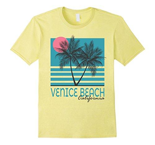 Mens Venice Beach California T Shirt Vintage Souvenirs Medium Lemon (Beach Mens Vintage T-shirt)