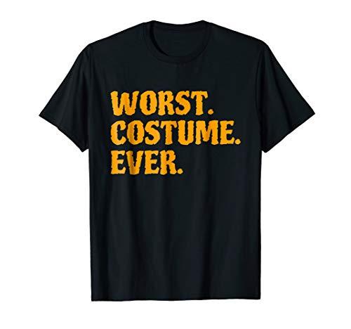 Worst Costume Ever Halloween -