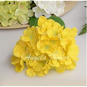CoronationSun - Decor Flower Home - 25pcs/lot Luxury Artificial Hydrangea Silk Flower Decorative Flower for Wedding Party Birthday Decoration 54