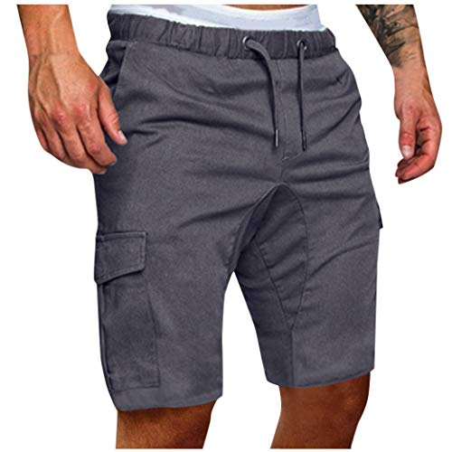 iHHAPY Men Sweatpants Slacks Casual Trousers Elastic Jogging