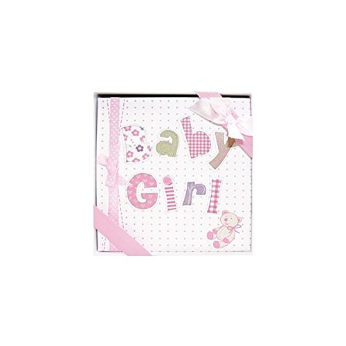 Whimsical PINK BABY GIRL's First PHOTO ALBUM/Newborn Infant GIRL/HOLDS 72 Photos 4 x 6/Great BABY SHOWER or Christening Gift/IT'S A GIRL/New Moms