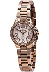 Michael Kors Petite Camille Embellished Rose Gold-Tone Stainless Steel Women's watch #MK3253